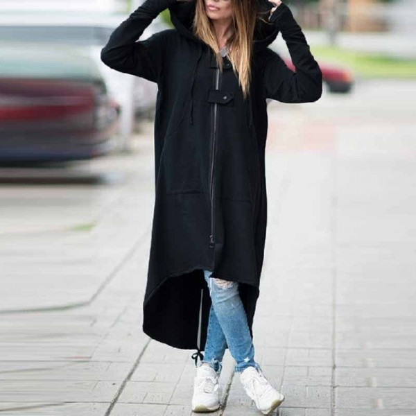 2019 new eBay Amazon wise fleece Sweater Hoodie zipper long windbreaker s 5XL