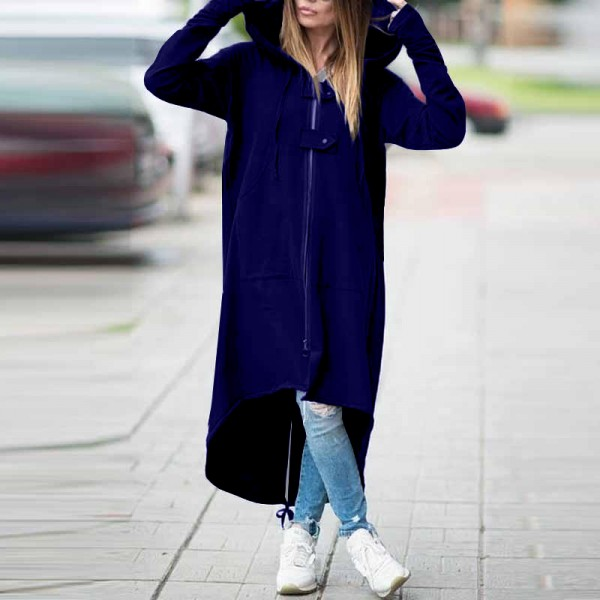 2020 new eBay Amazon wise fleece Sweater Hoodie zipper long windbreaker s 5XL 504