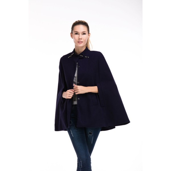 Amazon's new stand collar sleeveless Cape multi wear flannel coat windbreaker 8269 in stock