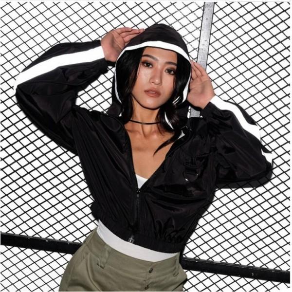 5307 European and American trade express eBay Amazon cross border hooded pocket short coat top windbreaker