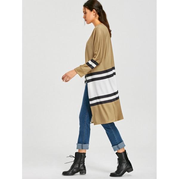 526 express eBay Amazon wise hot selling autumn color matching long sleeve large swing windbreaker cardigan