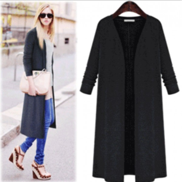 3201 European and American eBay foreign trade Amazon express large size women's fat cardigan knitted thin coat windbreaker