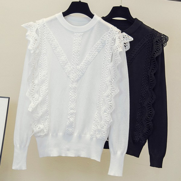 Real shot 631 large women's clothing autumn 2020 new foreign style knitwear fat sister sweater bottoming shirt