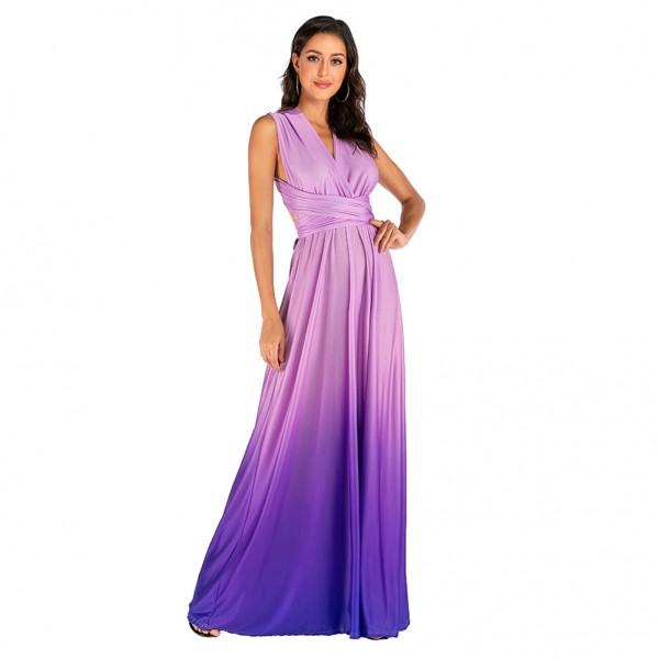 Quick sell through wish Amazon new irregular multi wear method gradient lace up dress dress dress dress dress dress 616