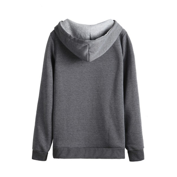 Amazon express European and American sports casual printed Hoodie women's autumn and winter slim cross neck top