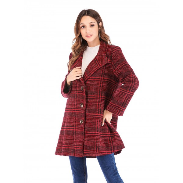 Real shot quick sale European and American Plaid t...