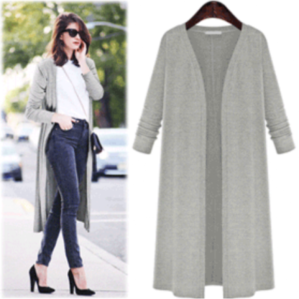 4201 American and European eBay foreign trade Amazon express large women's spring fat mm cardigan knitted thin coat windbreaker