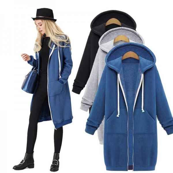 Amazon eBay autumn oversize coat loose medium leng...