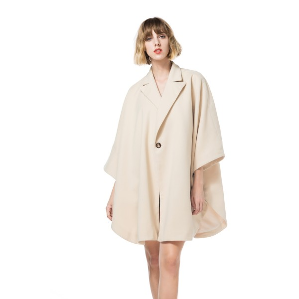 Amazon fat mm suit collar one button cape coat woo...