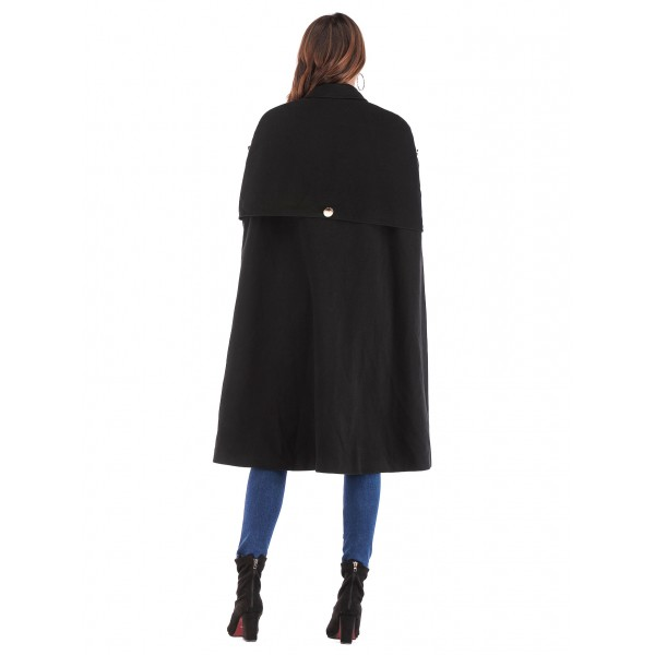 Real shot of eBay Amazon Europe and the United States famous long and medium length sleeveless Cape woolen coat 8536 in stock