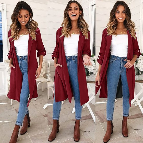 9211 eBay Amazon autumn winter leisure new long co...